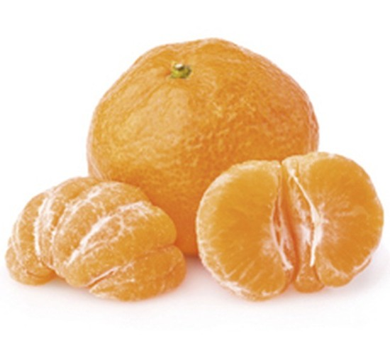 Ripe tangerine with slices